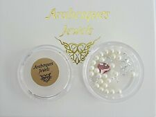 PINK OYSTERS & PEARLS ARABESQUES CHARM POT FOR MEMORY/FLOATING PENDANT/NECKLACE