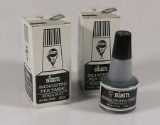 PRL) INCHIOSTRO PER TIMBRI SENZA OLIO NERO SIAM 30 ML BLACK INK ENCRE TIMBRE LOT