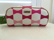 Authentic New Kate Spade New York Japan Exclusive Cosmetic Made Up Bag Pink Bow