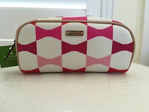 Kate Spade Cosmetic Bag New York Japan Exclusive Made Up Pink Bow Authentic New