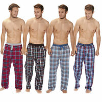 Mens Check Flannel Lounge Pants/Pyjama Bottoms Cargo Bay Cotton Xmas Gift NEW