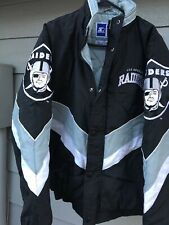 Rare Vintage Starter Los Angeles Raiders Spell Out Jacket Coat Size M NFL Back