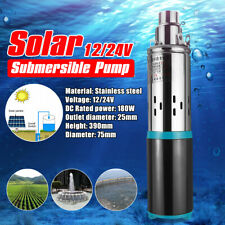 DC 12V 3m³/h Solar Water Pump Screw Submersible Bore Hole Power Garden Pond Pump