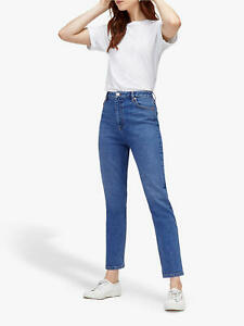 Brand New WAREHOUSE High Rise Slim Leg Jeans Trousers Size 6  8 10 RRP=£46