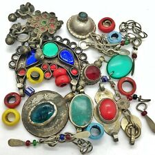 Antique Post Medieval Islamic Jewelry Fragments & Pieces With Stones - Beads Old