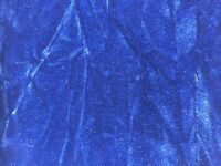 "Royal Blue Crushed Velvet Flocking Upholstery Drapery Fabric - BTY - 58""/ 60"""