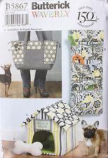 DOG CARRY BAG-HOUSE-ORGANIZER-MAT-TOYButterick Pattern 5867 NEW Uncut