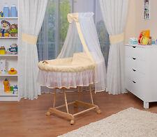 WALDIN Baby Passeggino XXL ,Culla per neonato NUOVO Giallo/Beige/Bianco