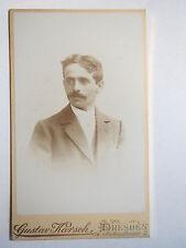 Dresden - 1899 - Mann im Anzug / CDV