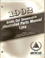 1992 ARCTIC CAT SNOWMOBILE LYNX  PARTS  MANUAL