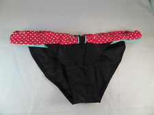 NWT Volcom Diner Dot Soft Waist Full Coverage Black w/Red/Green waist Size large