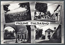 FIRENZE FIGLINE VALDARNO 08 VEDUTINE Cartolina FOTOGRAFICA viagg. 1960 ALTEROCCA