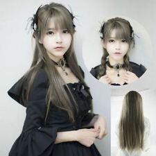 Perruques et toupets gris longs pour femme
