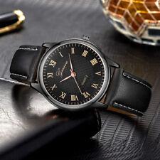 Ladies Fashion Classic Black Geneva Quartz Roman Numeral Black Band Wrist Watch.