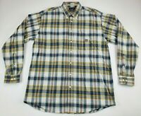Cinch Button Down Long Sleeve Western Shirt Plaid Men's Size Large L Rockabilly