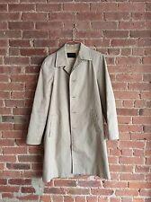 Vintage Prada MEN'S Beige Rain Jacket/Coat, Size Medium