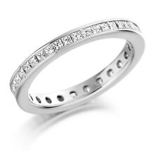1.00ct Princess Cut Diamonds Full Eternity Wedding Ring in Platinum, Hallmarked