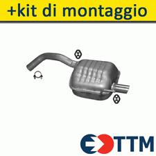 ALFA ROMEO 147 1.6 2.0 105/120/150HP 2000-2008 Silenziatore Marmitta Posteriore+