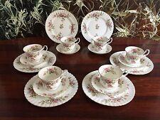 ROYAL ALBERT England MOSS ROSE - edles 18 teiliges Kaffeeservice für 6 Personen