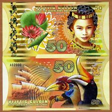 Netherlands East Indies (Indonesia), 50 Gulden, 2016 Polymer, UNC > Girl