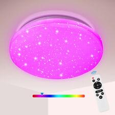 LED Deckenleuchte Badleuchte Wohnzimmer Deckenlampe Sternen-Himmel 24W RGB