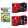 NEW Nintendo Switch Gray/Neon Joycons Animal Crossing Bundle - Fast Shipping