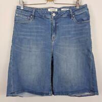 [ JEANSWEST ] Womens Curve Embracer Denim Shorts in Vintage Blue  | Size AU 14