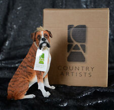 "Country Artists BOXER SITTING Best in Show 4.50"" CA03355 RETIRED Dog Figurine"
