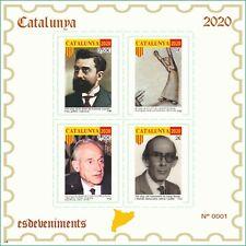 2 Hojitas sellos en prueba Cataluña 2020 Catalunya stamps trial Catalonia