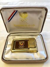 Olympics Seoul Korea 1988 Souvenir Belt Buckle In Original Case Never Worn