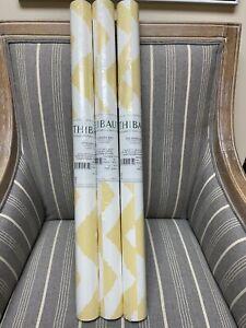 Thibaut Widenor Chevron Yellow/White 839-T-35186 3 Double Rolls Wallpaper NEW