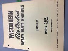 wisconsin engine manual,V461D,V460D illustrated parts manual