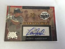 Fleer 2005 Lew Ford Minnesota Twins Authentic Signed Baseball Card SS-LF