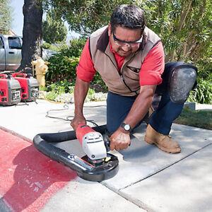 "7"" Vacuum Grinding Dust Shroud Kit Angle Grinder Hand Held Grinder Universal"