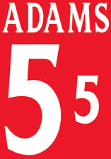 England Adams 2002 Nameset Shirt Soccer Number Letter Heat Print Football A