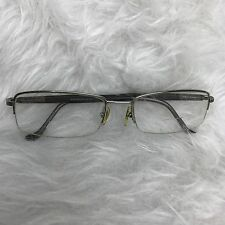 Woolrich Titanium Eyeglass frames half rim metal 7790 51-17-145 gunmetal