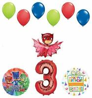 Mayflower Products PJ Masks Owlette 3rd Birthday Party Supplies Balloon Bouquet