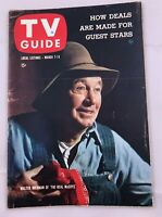 March 7 TV GUIDE 1959 REAL McCOYS Walter Brennan Harpo Chico Marx LUCY PITT.