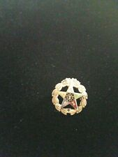 Antique Gold Filled Enameled Masonic Order of the Eastern Star Pin