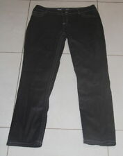 Womens size 14-16 black stretch skinny leg wet look jeans made by TARGET