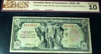 1935 $5 CANADIAN BANK OF COMMERCE (CANADA CHARTERED BANKNOTE)