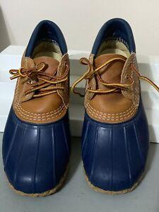 Bean Boots By L.L. Bean Sz 6 Blue Tan Low Bootie Shoes