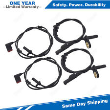 4xFront & Rear ABS Sensor For 07-09 Mercedes-Benz E320 E500 CLS350 CLS63 E63 AMG