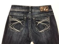 Silver Suki Womens Jeans Sz 27 X 27 Dark Wash Boot Cut Jeans (#373)