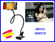 SOPORTE Universal para MOVIL Smartphone Metalico CON PINZA para mesa coche cama