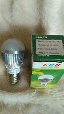 10 x 3W Dimmable ES E27 Warm White LED Light Lamp Bulb Low Energy 240V JobLot