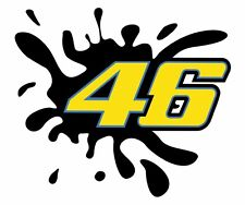 Startnummer Valentino Rossi 46 Splash Aufkleber Moto GP Motorrad Auto