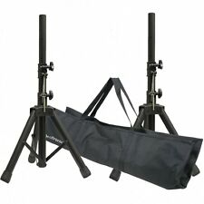 UKDJ Short Compact 35mm Height Adjustable Aluminium PA Speaker Stand Kit & Bag