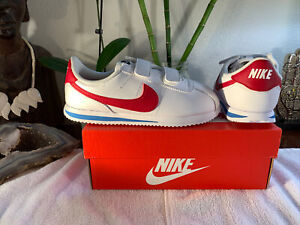 Brand NEW Nike Cortez Basic Red White Blue Toddler Kids Boys Shoes Size 10c +Box