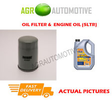 PETROL OIL FILTER + LL 5W30 ENGINE OIL FOR VAUXHALL ASTRA 2.0 136 BHP 1999-00